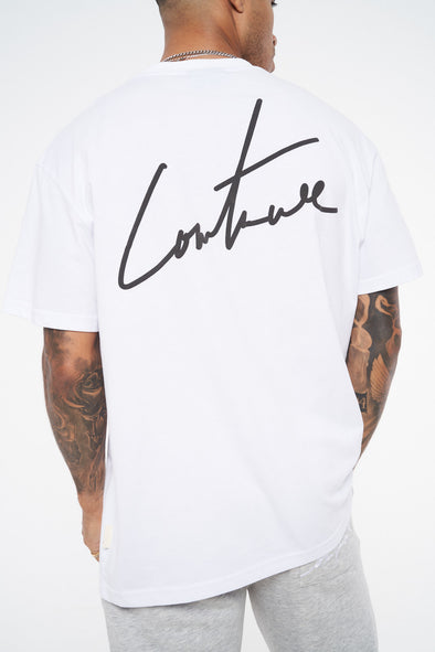 SIGNATURE PUFF PRINT REGULAR FIT T SHIRT