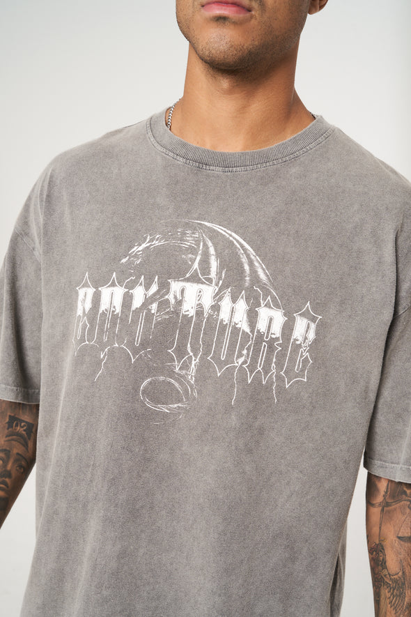 OVERSIZED GOTHIC GRAPHIC T SHIRT