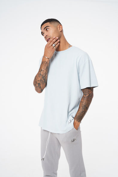 ESSENTIALS REGULAR FIT OIL WASHED T-SHIRT