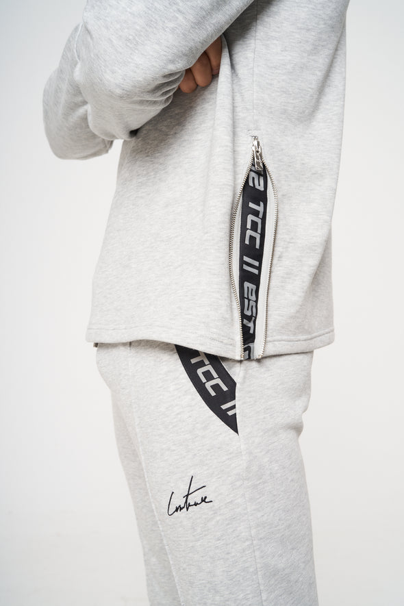 ZIP DETAIL SLIM FIT SIGNATURE CREW