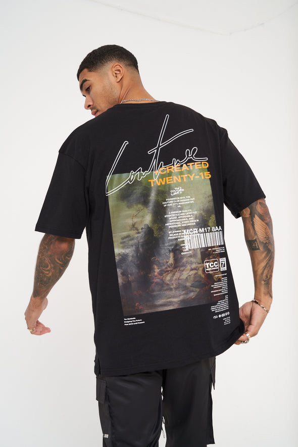 BACK PRINT SIGNATURE SEASON OVERSIZED T-SHIRT