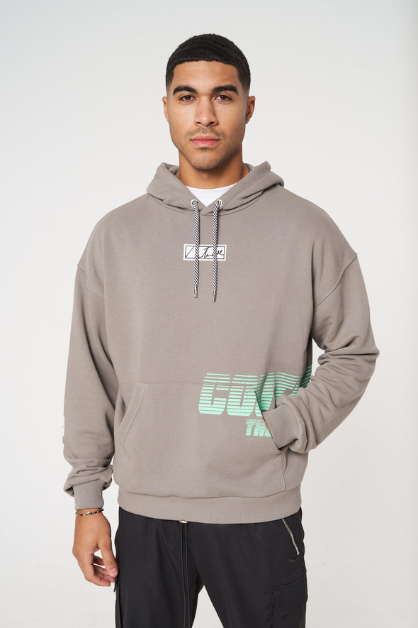 RACER GRAPHIC POCKET PRINT RELAXED FIT HOODIE