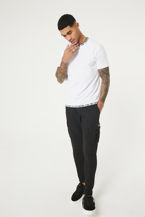 TEXTURED SLIM TAPERED CARGO PANT