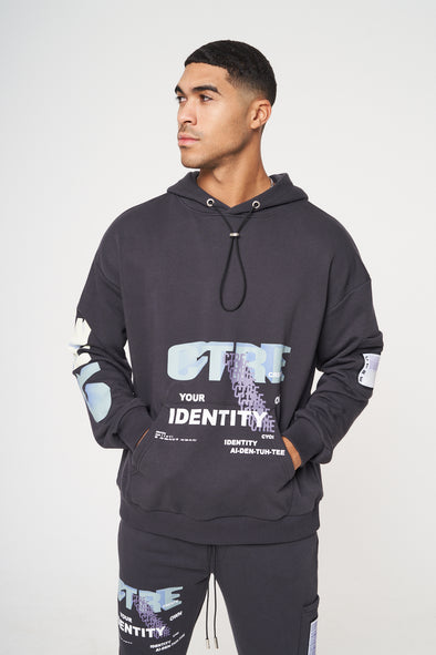 CTRE GRAPHIC PRINTED RELAXED FIT HOODIE