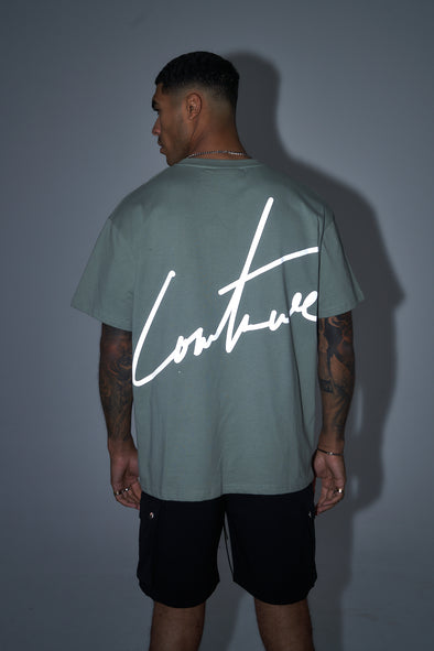 RELAXED FIT REVERSE REFLECTIVE T-SHIRT