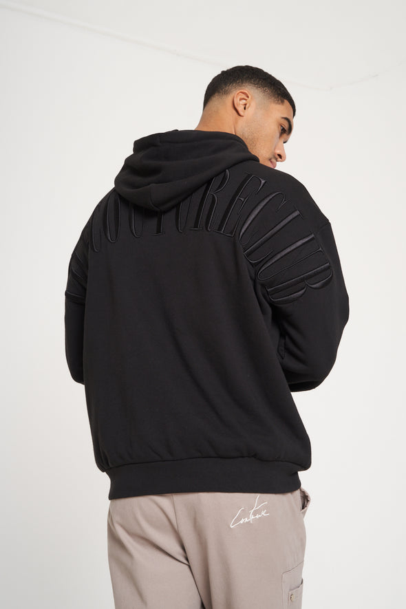 HIGH BUILD SIGNATURE EMBROIDERED RELAXED FIT HOODIE