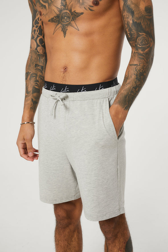 DOUBLE WAISTBAND LOUNGEWEAR SHORTS