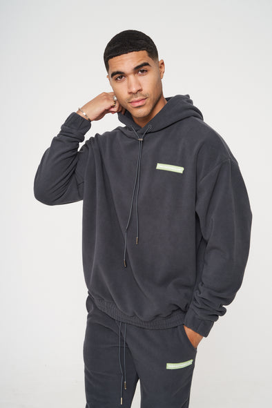 POLAR FLEECE OTH BADGED HOODIE