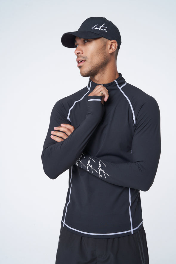 ACTIVE 1/2 ZIP LONG SLEEVE TRAINING T-SHIRT