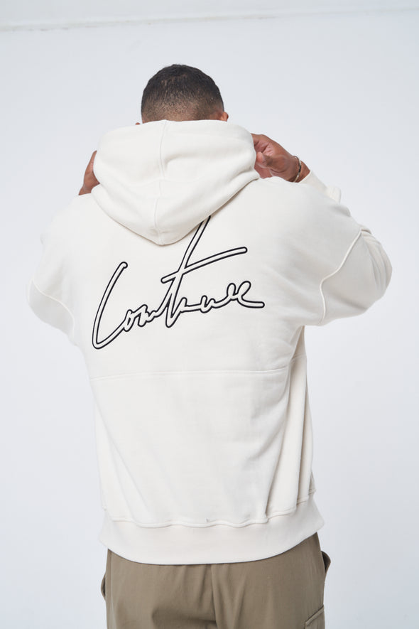 EMBOSSED FLOCK SIGNATURE RELAXED HOOD