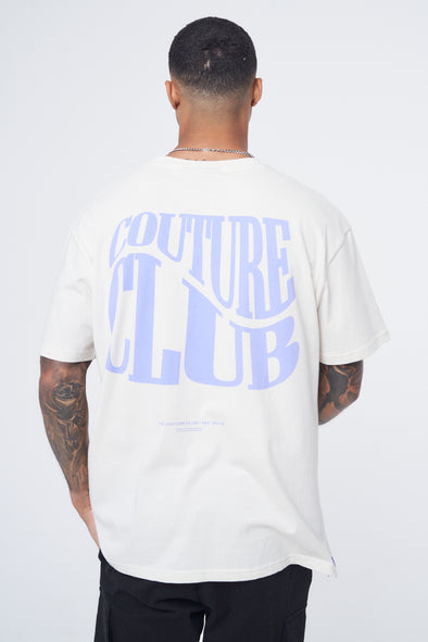 COUTURE WAVE GRAPHIC OVERSIZED T-SHIRT