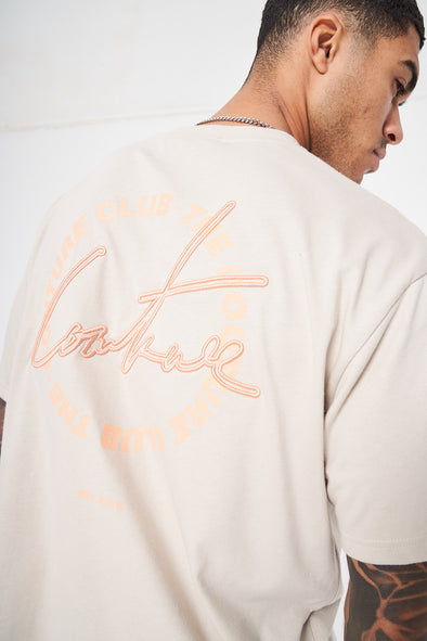 COUTURE SIGNATURE CIRCLE PRINT T-SHIRT