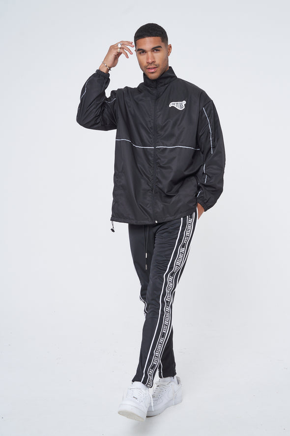 REFLECTIVE PIPING SHELL JACKET