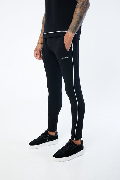 JACQUARD RIBBING TEXTURED SLIM FIT JOGGERS