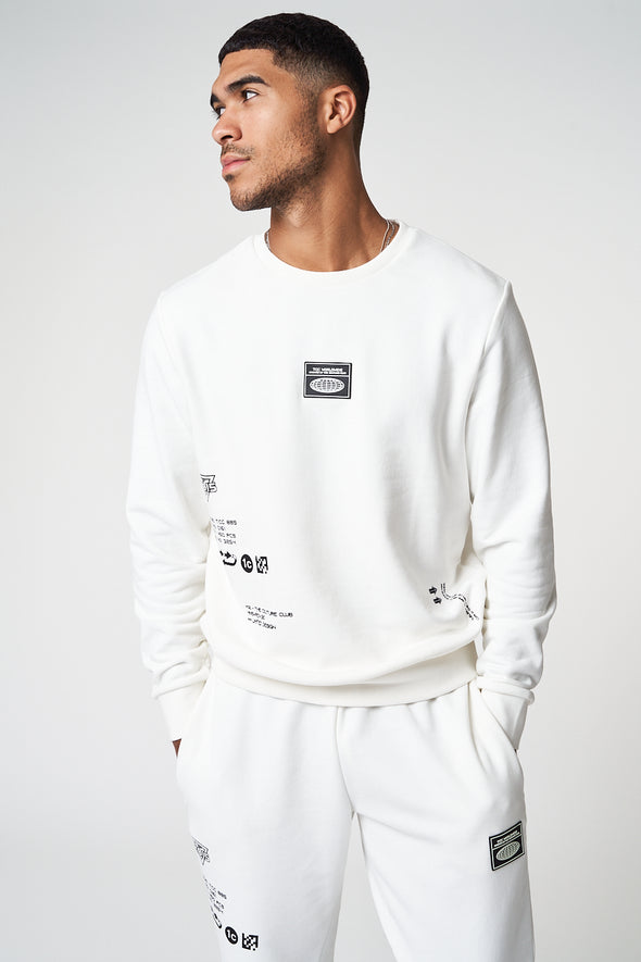 PREMIUM MULTI BADGED CREW NECK