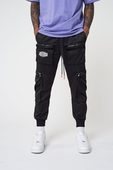 NYLON CUFFED CARGO PANTS WITH 3D POCKETS