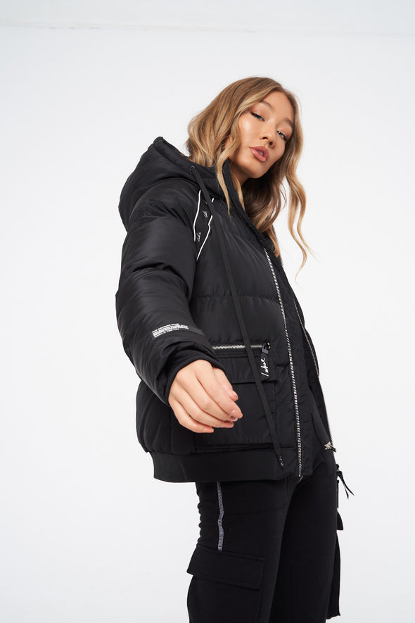 SIGNATURE TAPED PUFFER JACKET