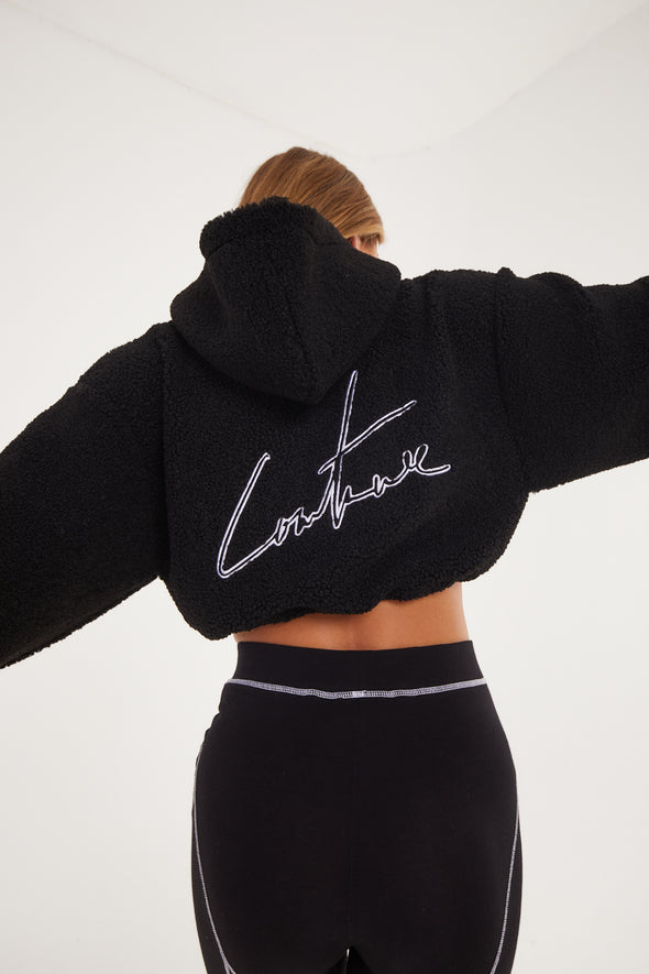 TEDDY SIGNATURE CROPPED HOODIE
