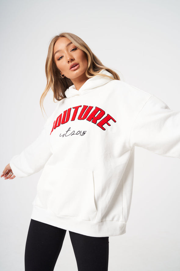 COUTURE APPLIQUE VOLUME HOODIE
