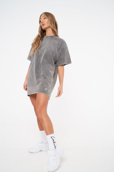 ESSENTIAL OIL WASHED T-SHIRT DRESS