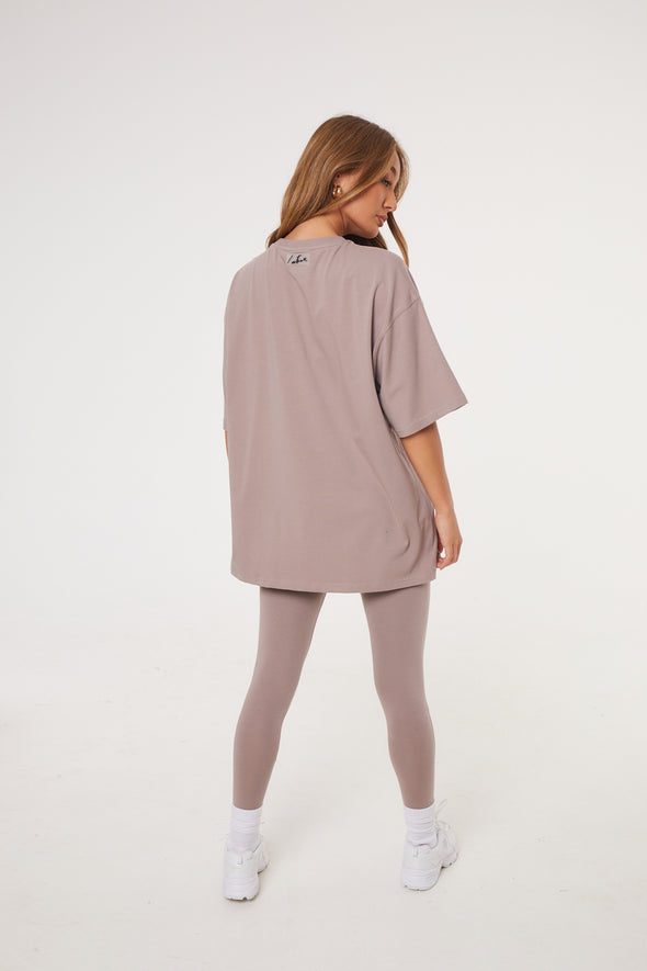 ESSENTIAL OVERSIZED T-SHIRT MINK