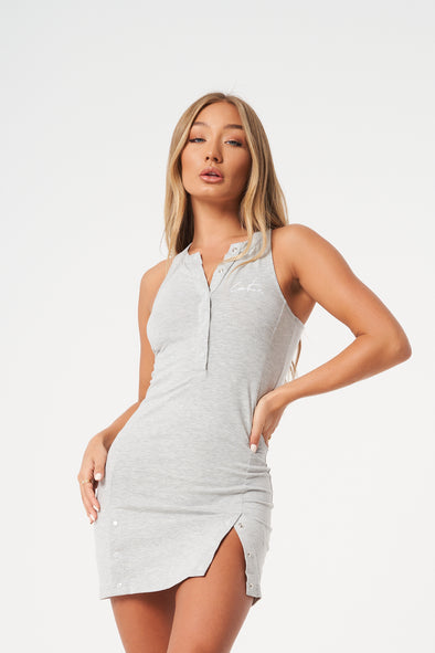 ESSENTIAL POPPER FITTED RACER DRESS