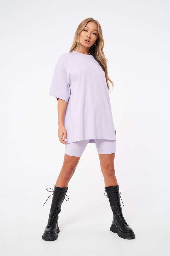 RIBBED SIGNATURE OVERSIZED T-SHIRT