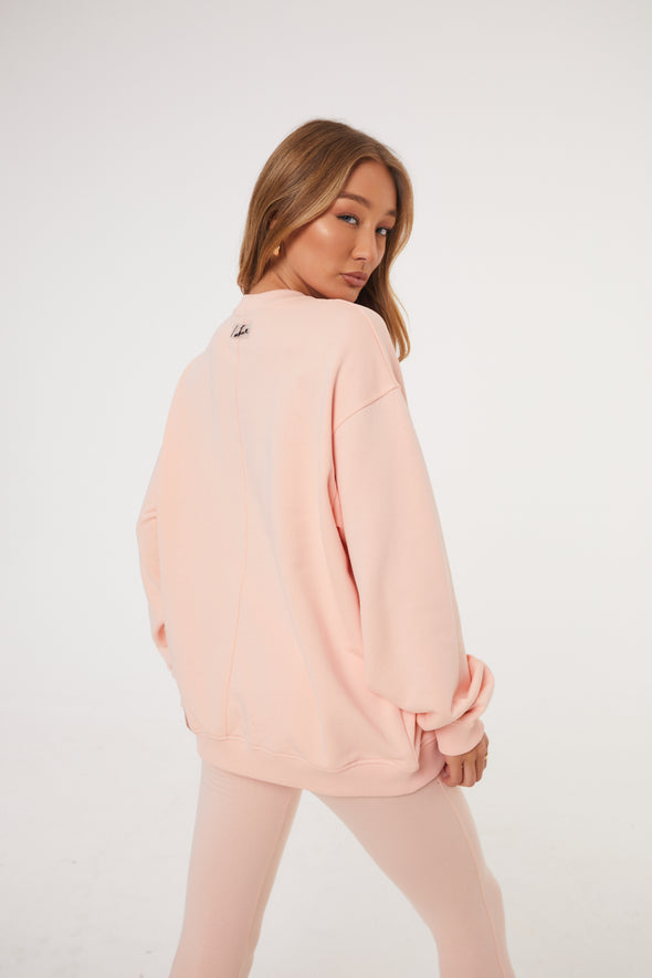 ESSENTIAL SEAM DETAIL PINK SWEATER