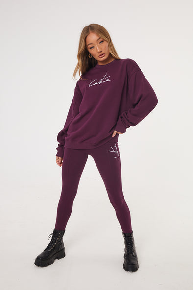 ESSENTIAL SEAM DETAIL PURPLE SWEATER