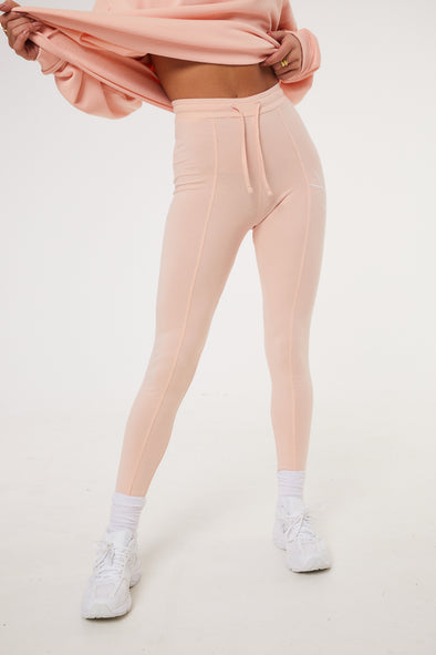 ESSENTIAL SEAM DETAIL PINK LEGGINGS