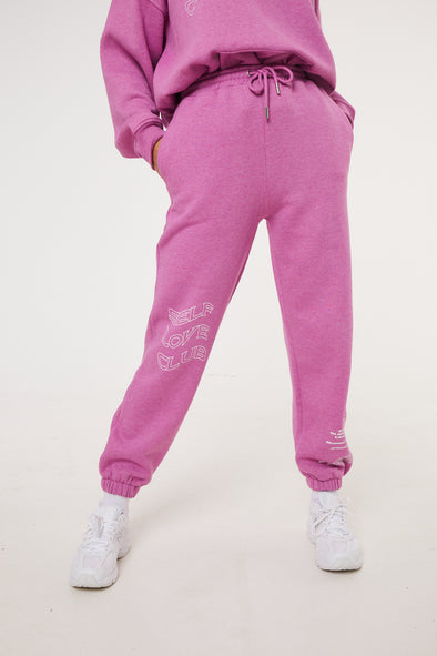 SELF LOVE CLUB BOYFRIEND JOGGERS PINK
