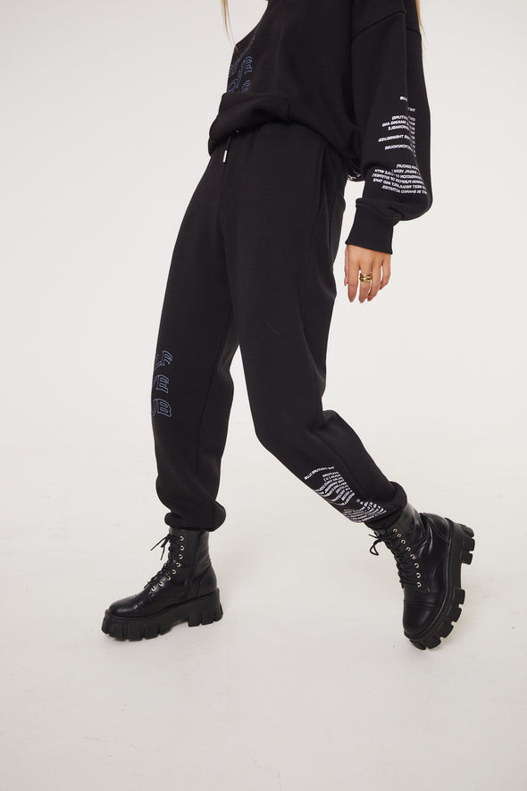 SELF LOVE CLUB BOYFRIEND JOGGERS BLACK