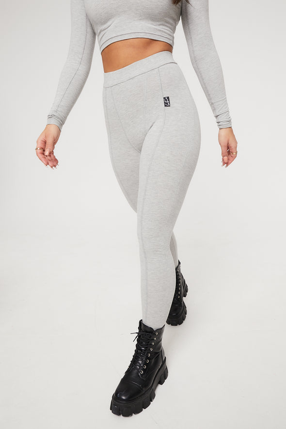 FITTED SEAM DETAIL HIGH WAIST LEGGINGS