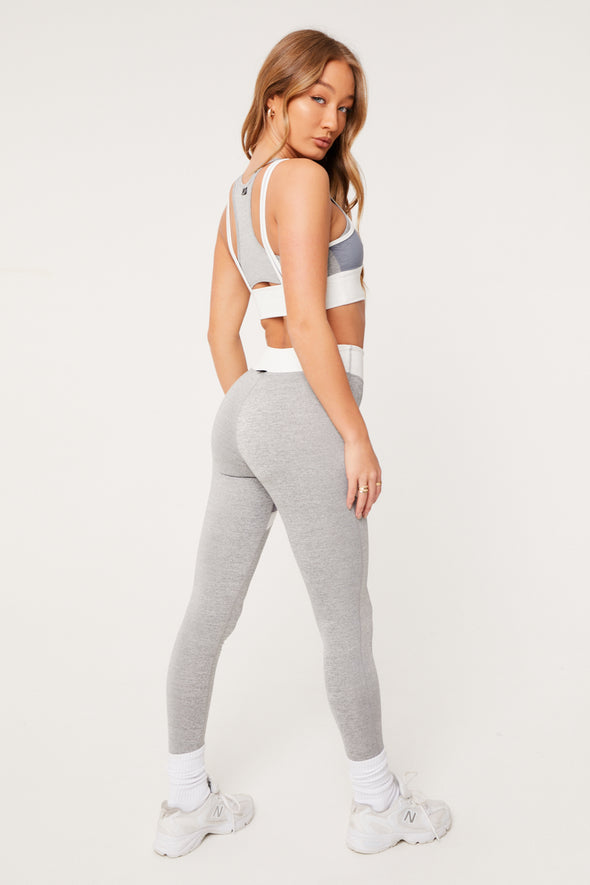 CONTRAST PANELLED LEGGINGS