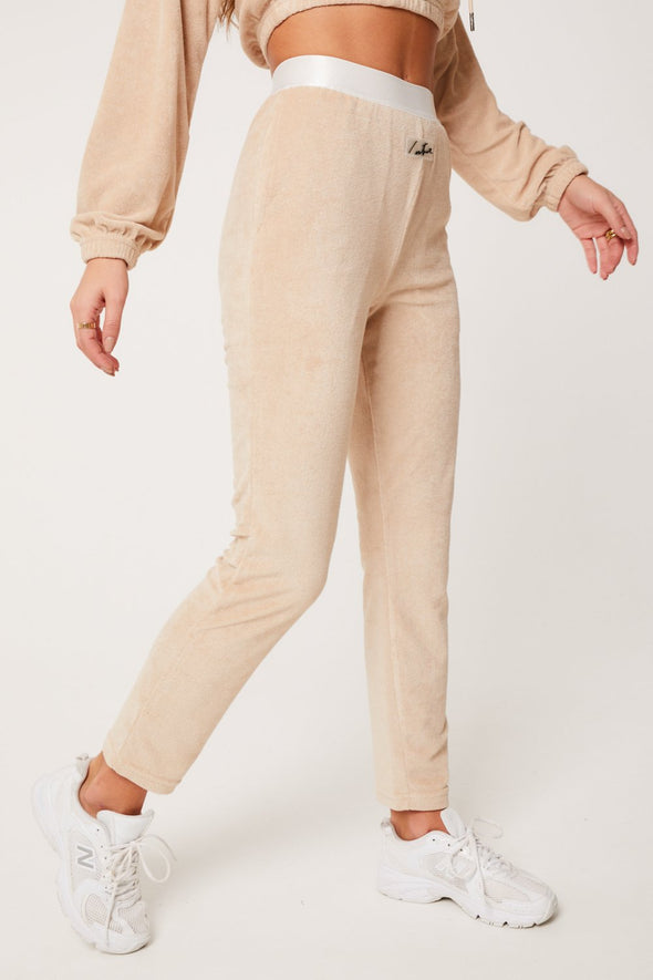 TOWELLED BANDED JOGGERS