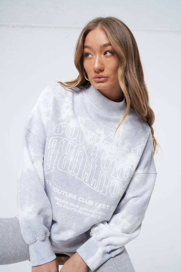 WAVE LOGO TIE DYE SWEATER