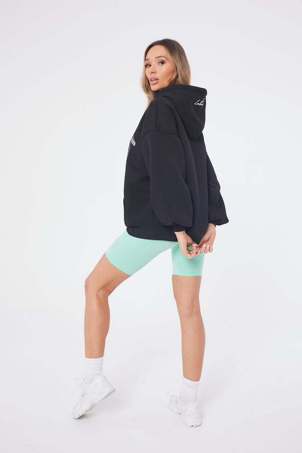 NEON GRAPHIC PUFF SLEEVE HOODIE