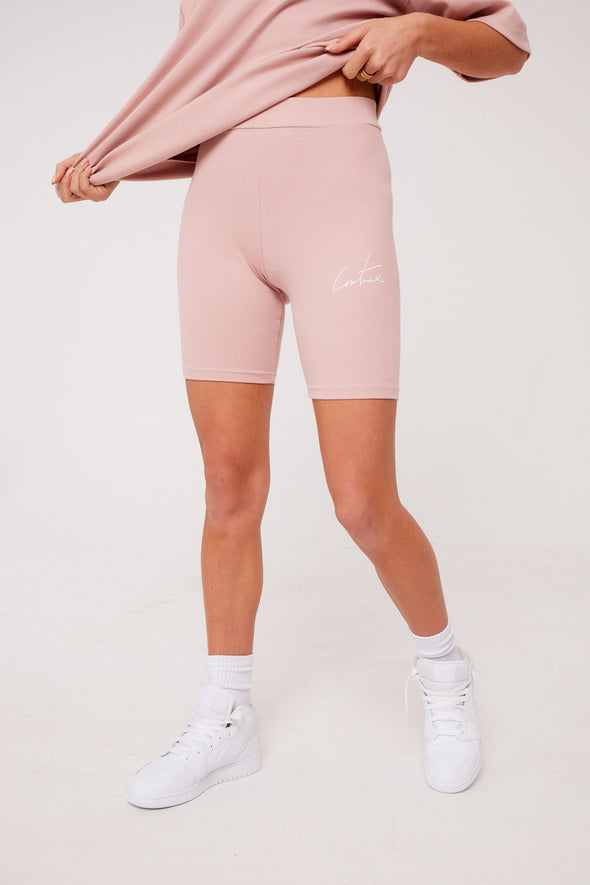 REVERSE SIGNATURE RIBBED CYCLING SHORT
