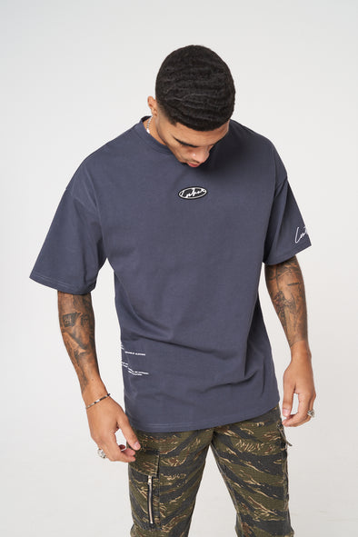 RUBBER BADGE DEFINTION OVERSIZED T-SHIRT