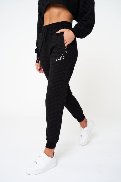 TEXTURED SIGNATURE CUFFED JOGGERS