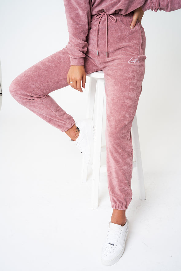 SIGNATURE TOWELLED TRACK PANTS