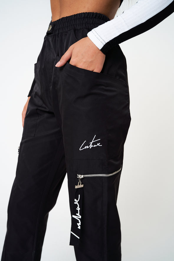 SEAM DETAIL ZIP CARGO PANTS