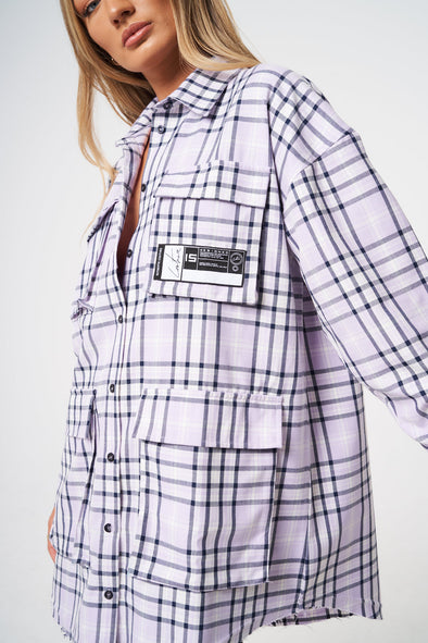 UTILITY POCKET OVERSIZED SHIRT DRESS