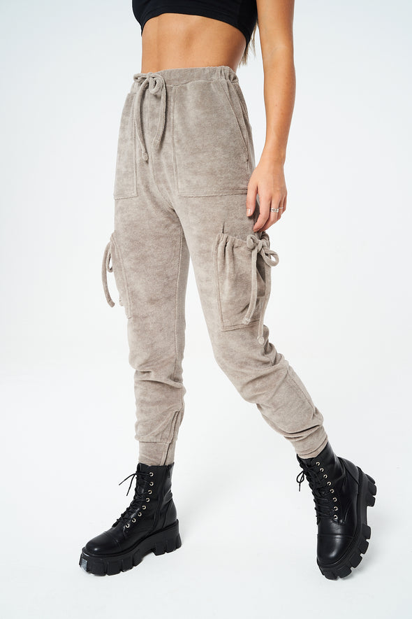 TOWELLED TIE POCKET UTILITY JOGGERS