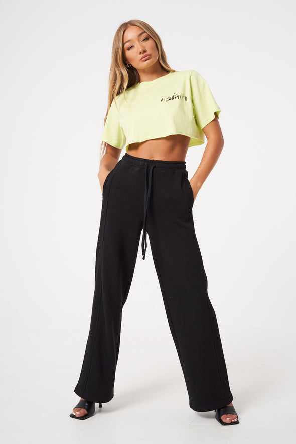 WORLD TOUR DISTRESSED CROPPED OVERSIZED T SHIRT