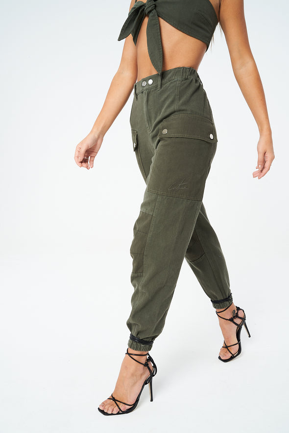 CONTRAST SLOUCHY CARGO PANT