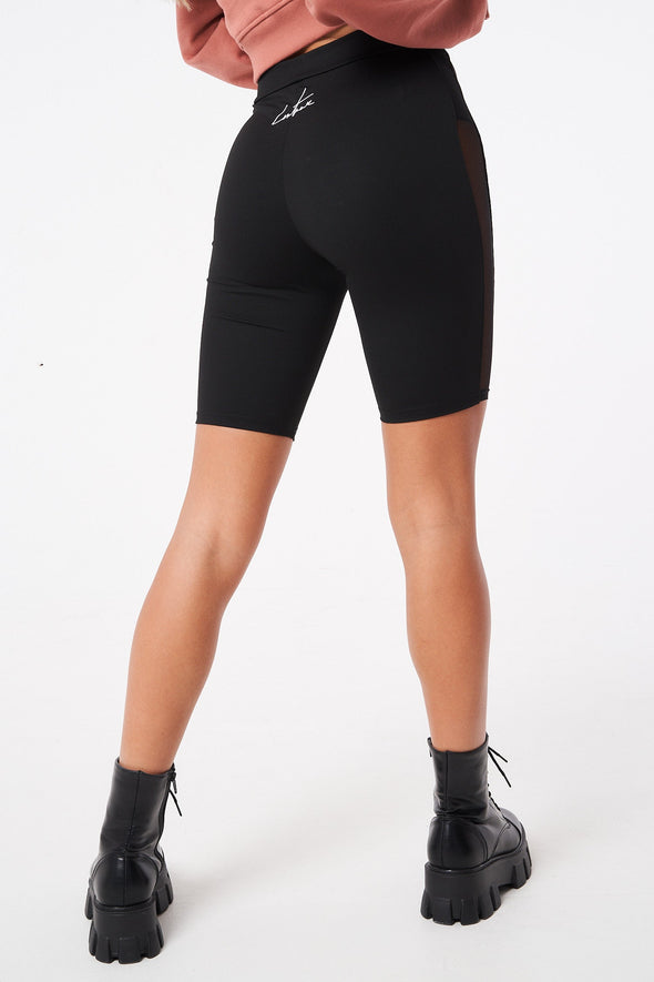 MESH PANELLED CYCLING SHORTS