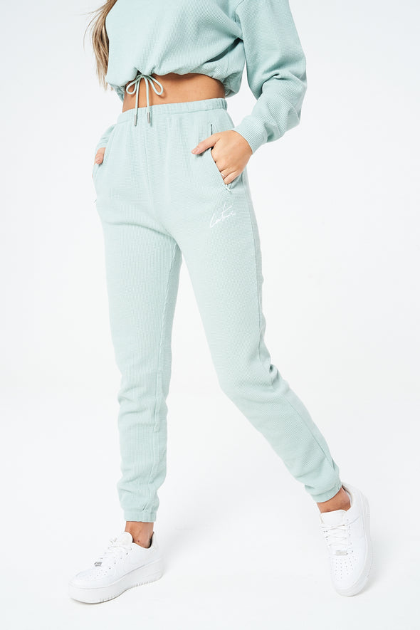 WAFFLE RUCHED JOGGERS