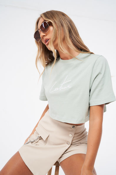 SIGNATURE CROPPED T-SHIRT