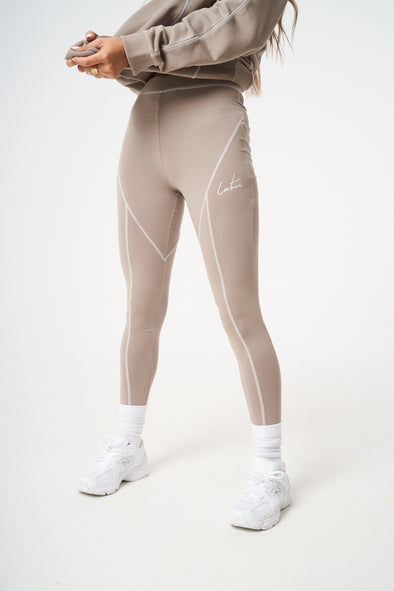 EXPOSED OVERLOCK SEAM LEGGINGS